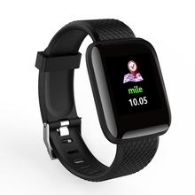 D13 1 3 kolorowy ekran smart watch 116 PLUS inteligentna bransoletka tlen Monitor ciśnienia krwi widoczne wiadomość pokaż bransoleta ze smartwatchem tanie tanio Pełne Brak 128 MB Passometer Uśpienia tracker Wiadomość przypomnienie Przypomnienie połączeń Pilot zdalnego sterowania