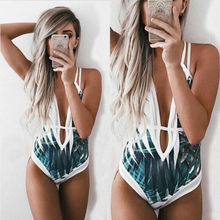 Hot Sale Womens One Piece Bandage Push up  Bikini Swimwear Swimsuit bathing Suit