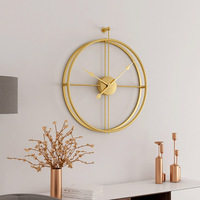 59cm Nordic style Vintage metal Wall Clock 3D Art Home Decoration Antique Clock creative Brief Iron Wall Hanging clocks CW225