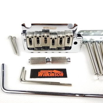 Wilkinson 2 post point Chrome Silver Double swing Electric Guitar Tremolo System Bridge for strat and suhr guitar WOV08 wilkinson 6 screw type st electric guitar tremolo system bridge for strat guitar chrome silver wov02