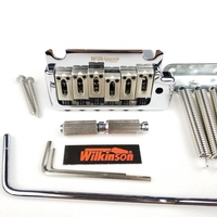 Wilkinson 2 post point Chrome Silver Double swing Electric Guitar Tremolo System Bridge for strat and suhr guitar WOV08