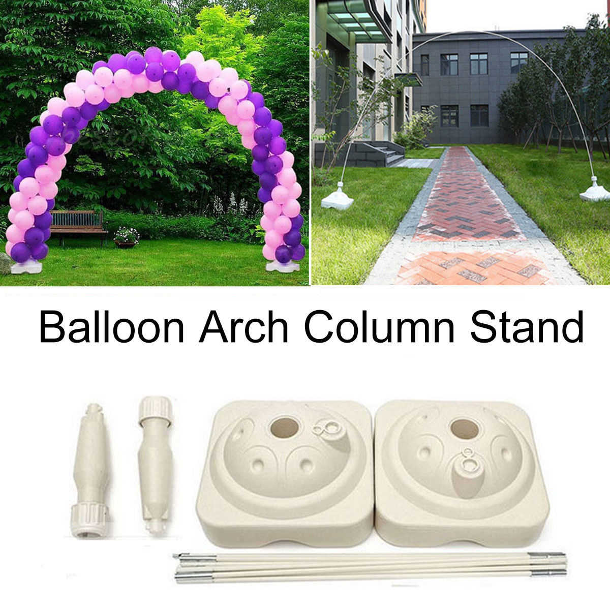 Wedding&Party Celebration Decoration Party Supplies Balloon Arch Stand Base Pot Kit Clip Connector Birthday Balloons Accessories