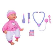 Кукла-пупс Карапуз Hello Kittyс набором доктора,  40 см, 9 функций