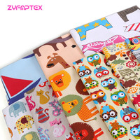 ZYFMPTEX 150x100cm Thick Polyester Cotton Fabric Cartoon Print Style Canvas Fabric Printed Sew Tablecloth Cushion Bags Material