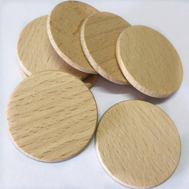 20 Pcs Natural Wood Disks Crafts Paint Decor Wood Log Slices Discs Cutout Circle Round Large Wooden For Wedding DIY Decoration
