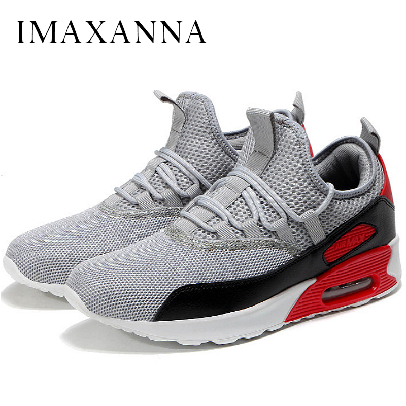 IMAXANNA New Fashion Men Running Shoes Sports 2019 Mesh Breathable Sneakers Shoes Air Shoes For Male Leisure Lace Up AthleticIMAXANNA New Fashion Men Running Shoes Sports 2019 Mesh Breathable Sneakers Shoes Air Shoes For Male Leisure Lace Up Athletic
