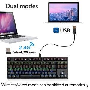 Image 2 - RK Sink87G Teclado mecánico para jugar, inalámbrico, interruptor azul y marrón, retroiluminación LED RGB de 2,4G, para PC, portátil, Notebook, MMO