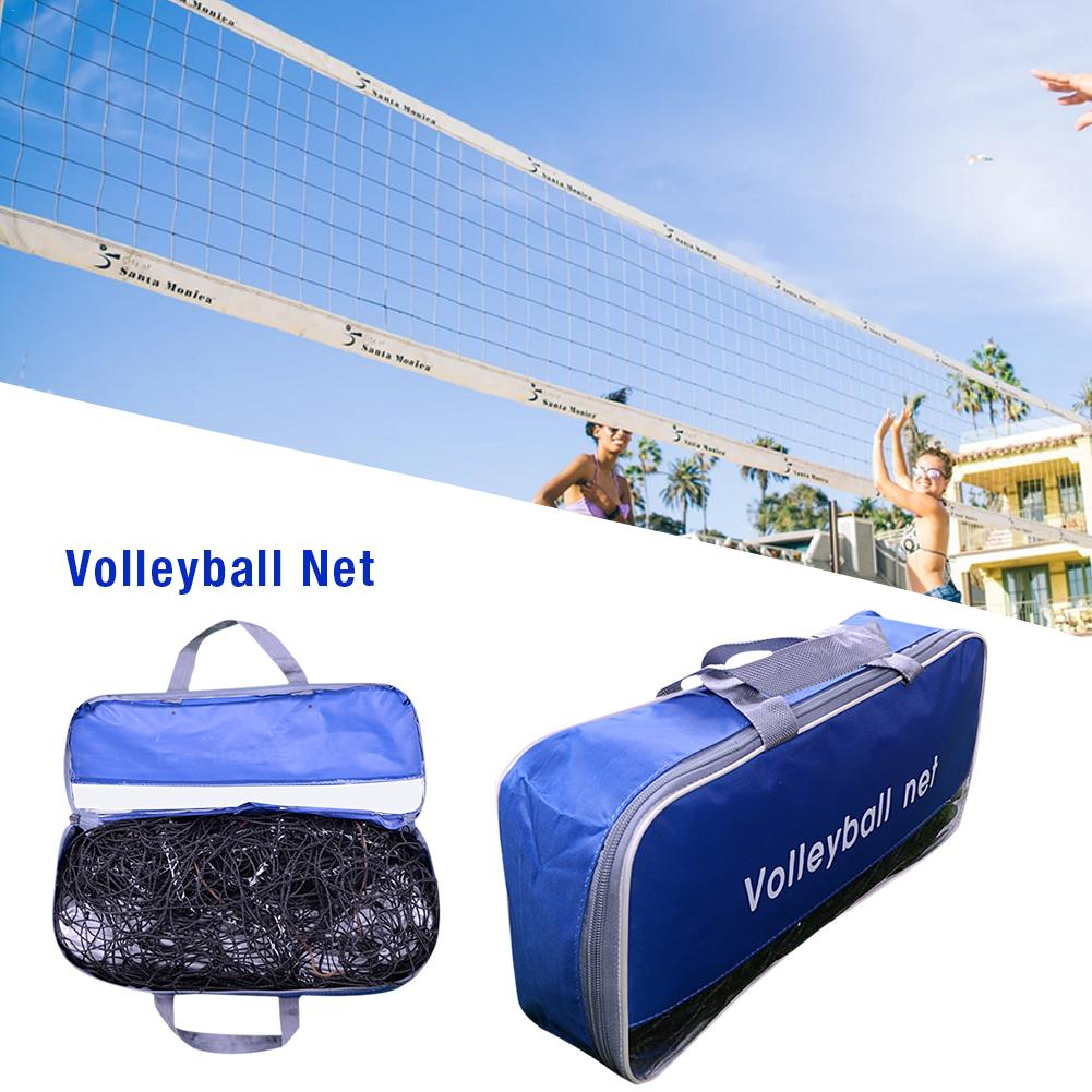 Standard Volleyball Net Beach Volleyball Net For Practice Training Volleyball Replacement Net For Indoor Outdoor Sports 9.5m*1m