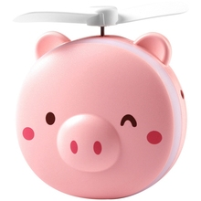 Pig Beauty Portable Led Mirror Pocket Fan Usb Charging Mini Handheld Fan With Mirror Led Light Portable Small Fan