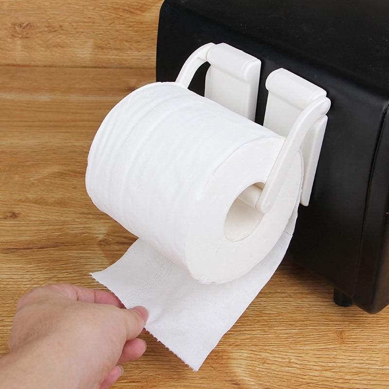 Adjustable Magnetic Reel Paper Holder Rack Refrigerator Side Roll Paper Stand Microwave Oven Paper Towel Rack For Kitchen
