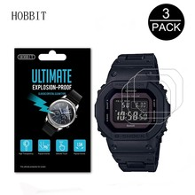3Pack 5H Nano Explosion-proof Screen Protector for Casio G-Shock Tough Slor GWB5600 5600BC Watch Guard Film