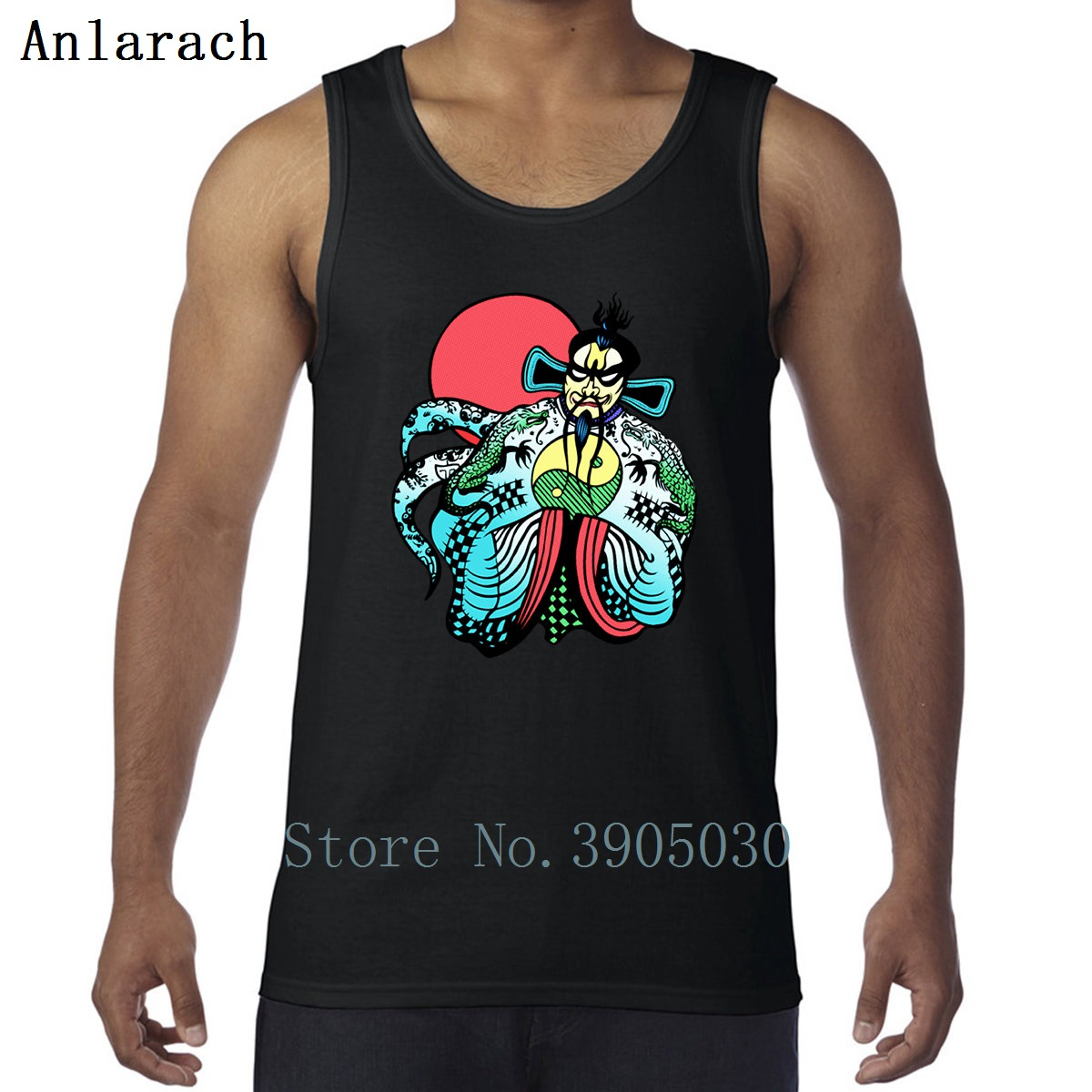 Big Trouble Little China Jack Fu Manchu Vests Spring 100% Cotton Cute Creative   Tank     Top   Men Graphic Sportswear Funny Singlet