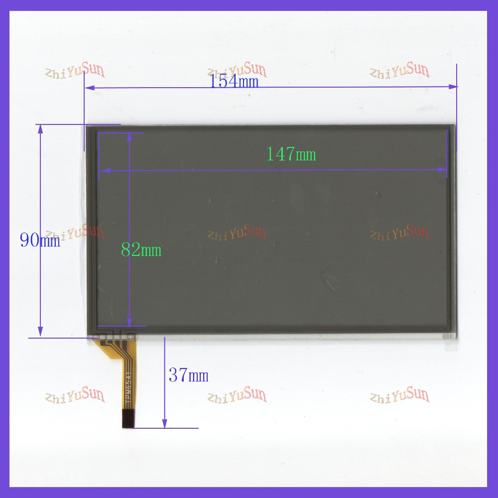 ZhiYuSun 6.2 Inch Touchscreen On Card GPS 154mm*90mm On TFT9K0406FPC2-A2-E  For  RCD510
