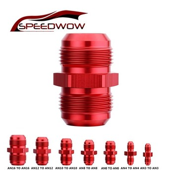 SPEEDWOW AN3 AN4 AN6 AN8 AN10 AN12 AN16 Straight Male To AN Flare Union Adaptor Nitrous Oil Hose End Fitting Adapter 2pcs male 6 an to 6 an female 45 degree swivel coupler union adapter fitting