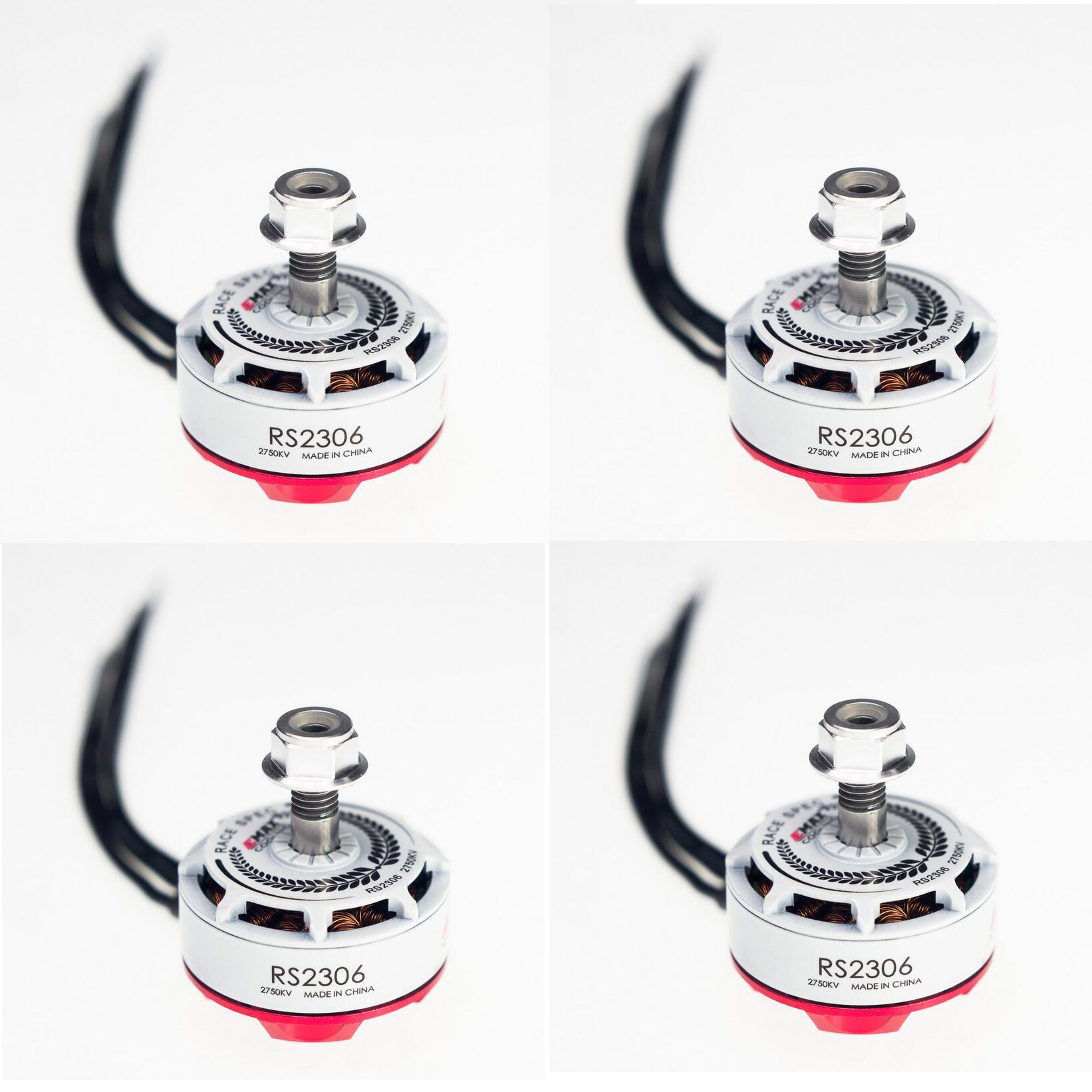 4PCS/lot Emax RS2306 White Edition 2400KV 2750KV 3 4S Racing Brushess Motor for FPV Racing RC Multicopter