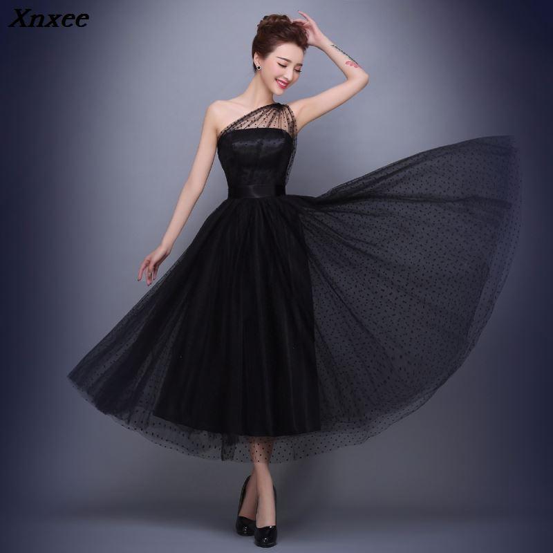 Diamonds One Shoulder Voile 2019 Women s elegant short gown party proms for gratuating date ceremony