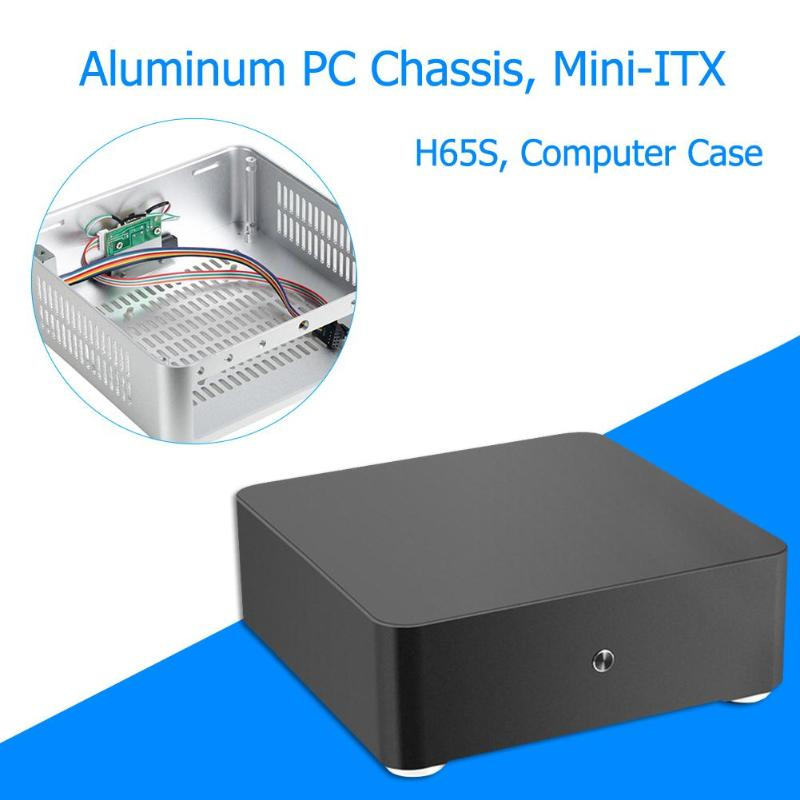 H65S Computer Case All Aluminum Desktop PC Chassis for Mini ITX Motherboard 200x200x65mm For Computer