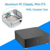 H65S Computer Case All Aluminum Desktop PC Chassis for Mini ITX Motherboard 200x200x65mm