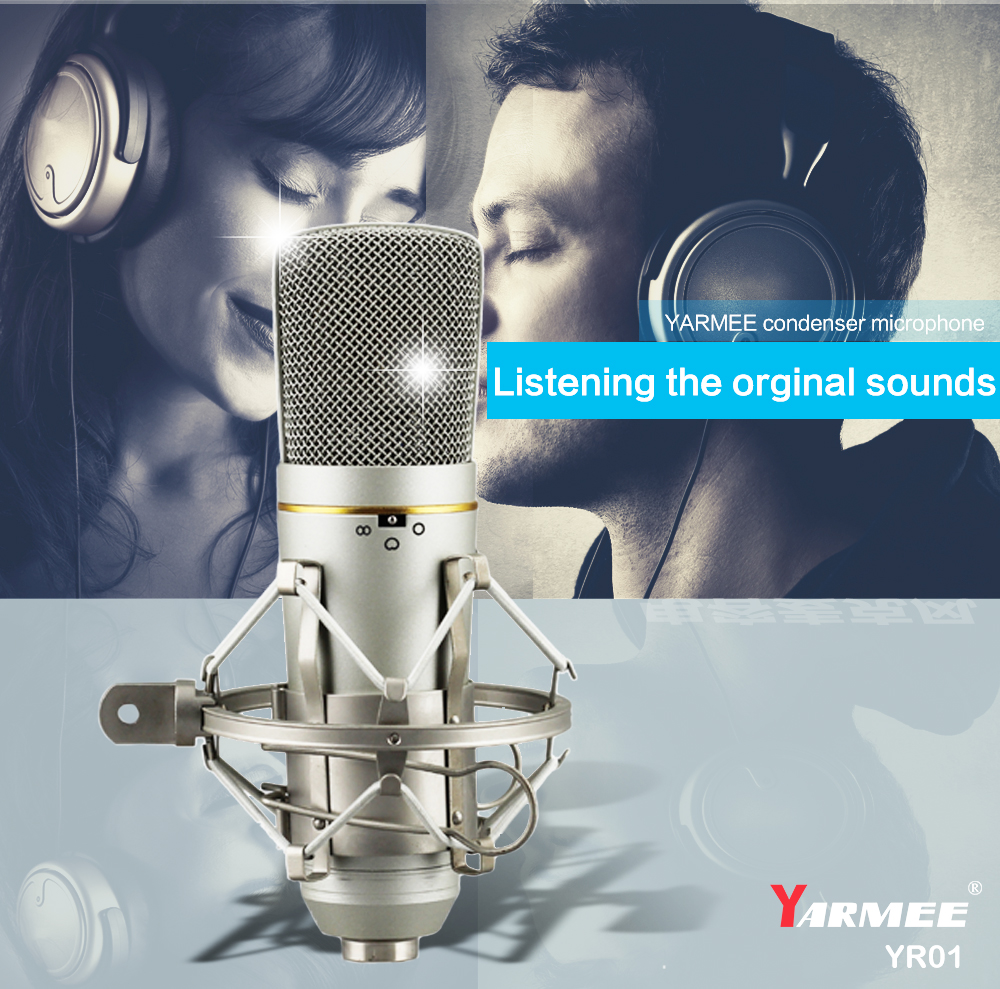 Free Shipping!!! YARMEE Professional XLR Recording Microphone Studio Microphone Test One By One