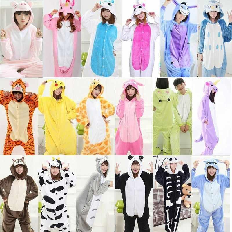 2019 единорог пижамы Onesie Kingurumi панда фланелевые пижамы кигуруми  женские зимние взрослые ночная рубашка стежка единорог 91913ec0ffc08