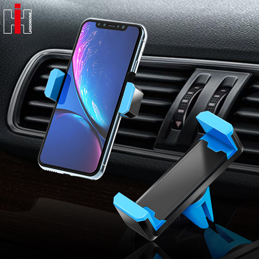 Hisomone Universal Car Phone Holder Stand Air Vent Mount Holder 360 Degreen For Phone Support 4-6 inch Holder Stand in Car mobile device