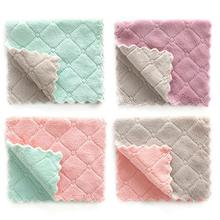 Microfiber Double-Sided Absorbent Dish Towel Thickened Lint-Free Oil-Free Kitchen Household Cleaning Towel Duster Cloth цена и фото