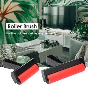 Roller-Brush Painting-Roller Rubber DIY Art Red Brushing-Craft Art-Supplies Flatten