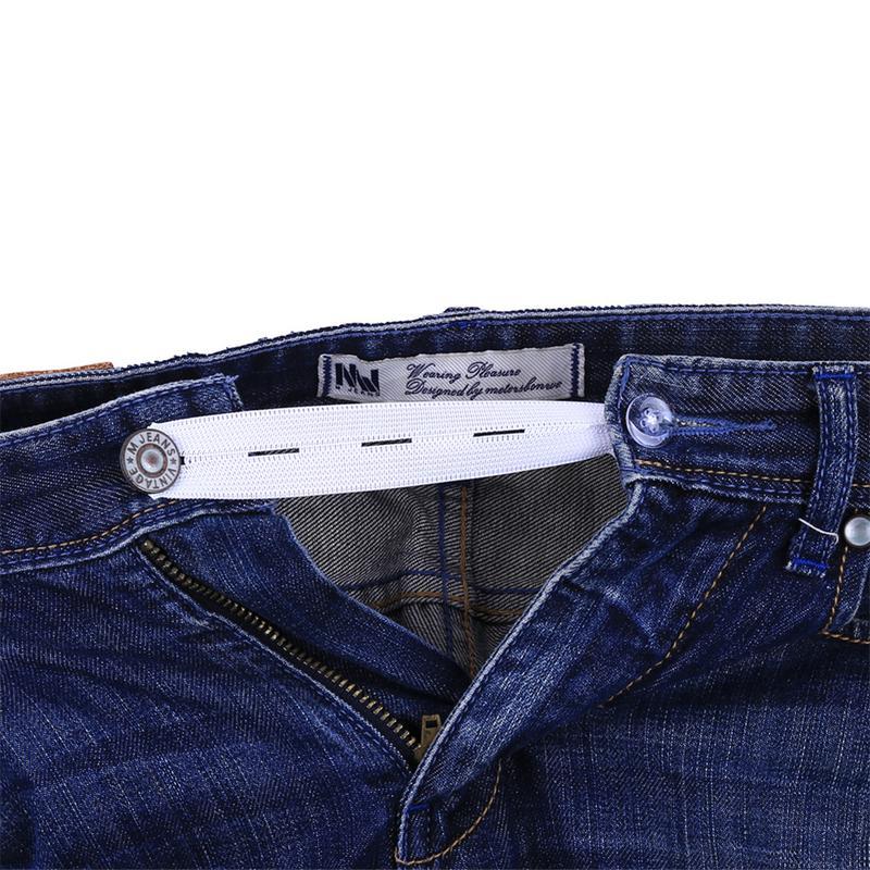 6Pcs/set Skirt Trousers Jeans Waist Expander Waistband Extender Button PantElastic Extender Wonder Button Belt Extension Buckle