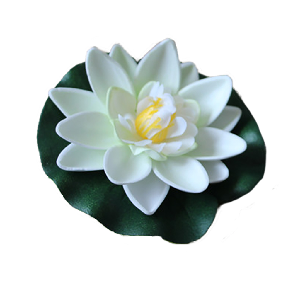 2Pcs Artificial Floating Lotus Leaves Fake Foliage Plant Garden Pond Decor Newly