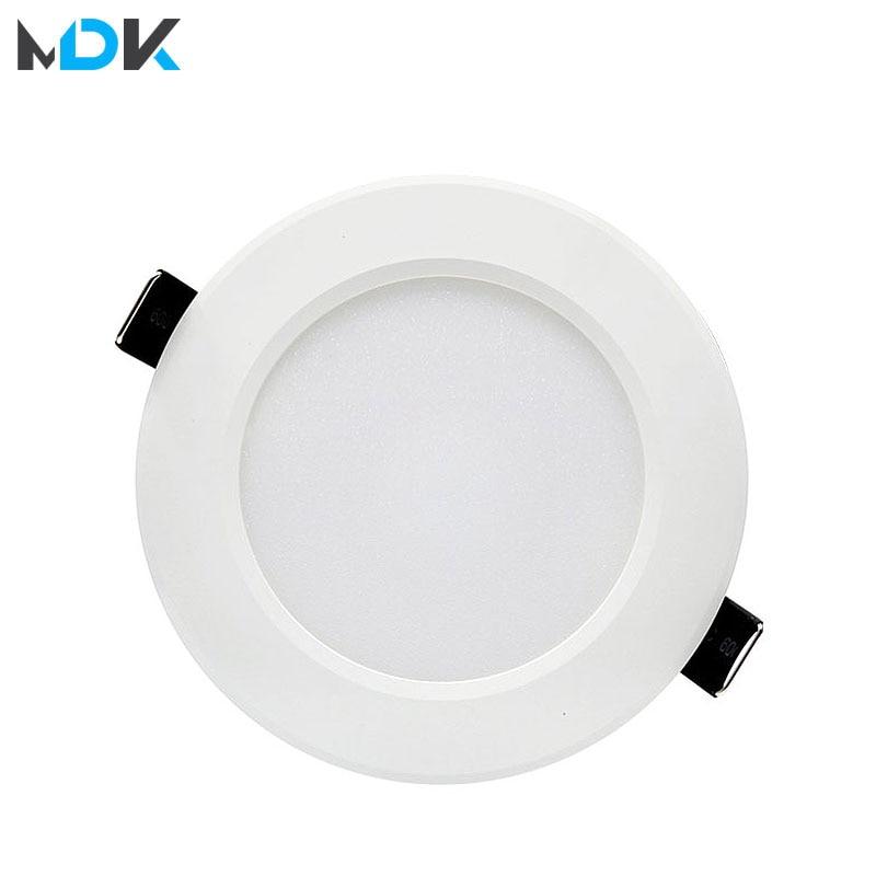 LED White Downlight Lamps Waterproof 5W 9W 12W 15W 18W AC 220V 230V Built-in Drive Led Down Light Lamp