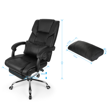 Black Lifting Chair Reclining Office Swivel Chair Home  1