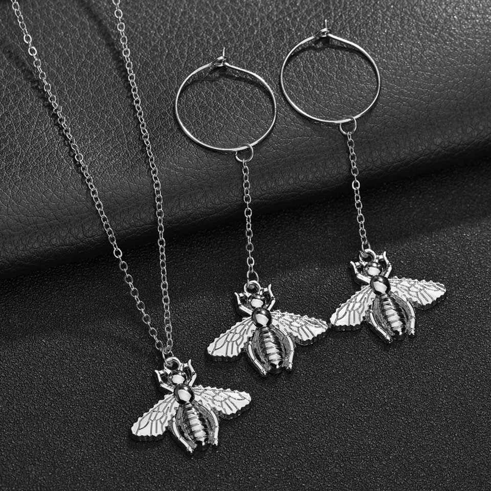 X-NO BUY 2019 New Women Pendant Necklace Cute Bee Handmade Fashion Necklace Trendy Wedding Jewelry Pendant & Necklace 2 colors