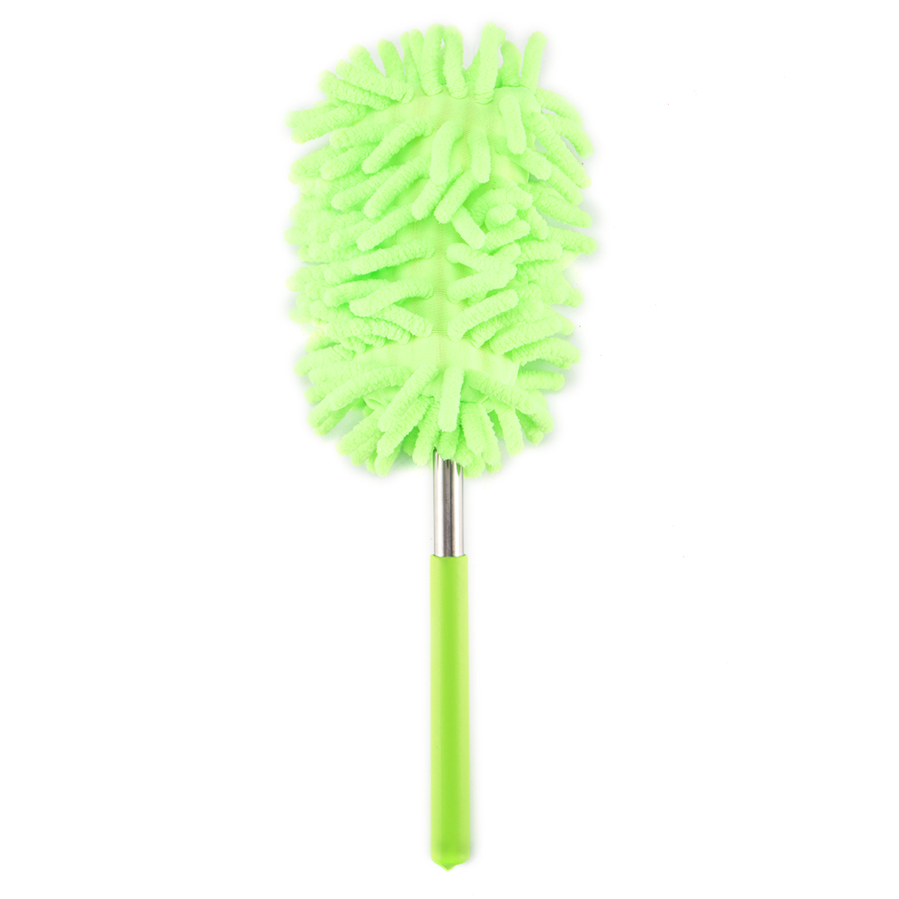 Microfiber Soft Milk Silk Car Duster Telescopic Car Cleaning Duster Brush With Stainless Steel Extendable Handle(China)