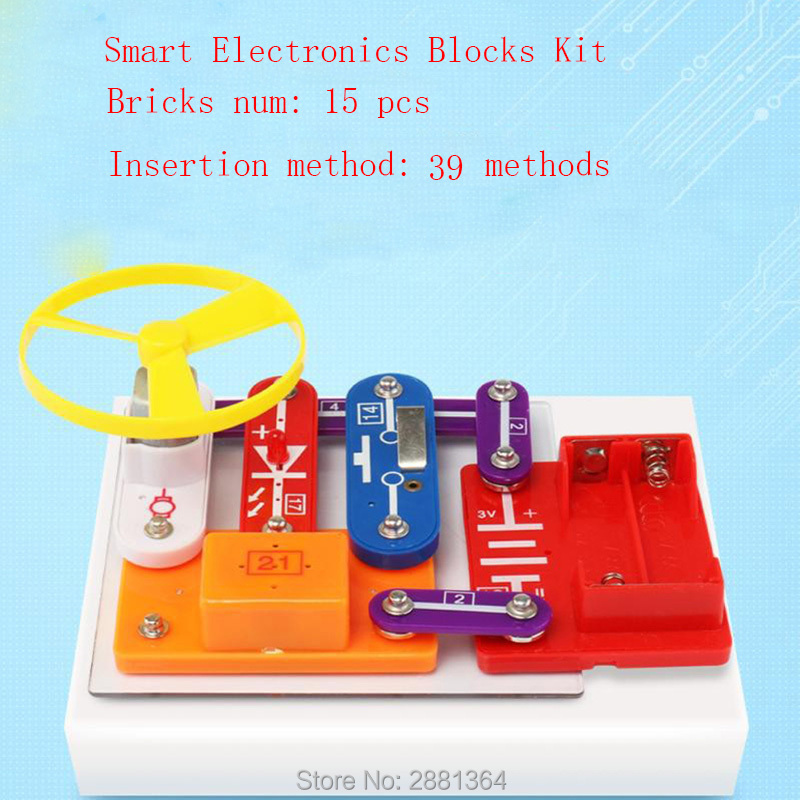 Smart Educational Electronics Discovery Kit Great Diy Building Blocks Funny Electric Circuits Kits Science Toys For Children W39