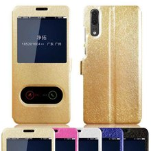 Huawei P30 Case Magnetic Window Leather Stand Flip Case For Huawei P30 Pro Case Huawei Nova 4 Case Nova 3 3i P20 Pro Lite Cover цена и фото