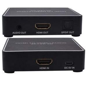 Image 4 - Аудио экстрактор Kebidu 4k x 2k HDMI в HDMI 3,5 мм стерео аудио экстрактор HDMI аудио преобразователь HDMI сплиттер для ТВ ПК