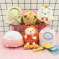 6pcs/set Kawaii San X Sumikko Gurashi Corner Bio Year of the Pig Japanese Anime Plush Toy Pendant Stuffed Animals Doll Girl Gift
