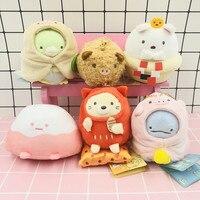 6pcs/set Kawaii San X Sumikko Gurashi Corner Bio Year of the Pig Japanese Anime Plush Toy Pendant Stuffed Animals Doll Girl Gift