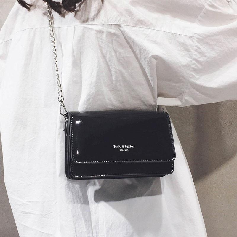 2019 Luxury Handbags Women Bags Silver Crossbody Bags For Woman Shoulder Bag Leather Purse Bolsa Feminina Sac Main Femme OC231 in Top Handle Bags from Luggage Bags