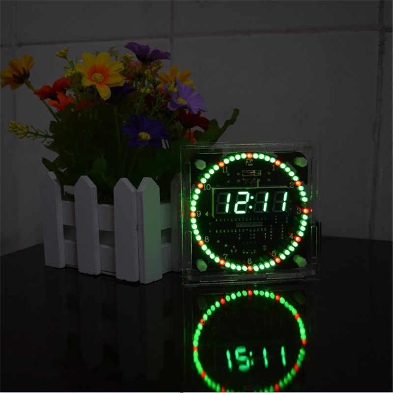 Vendita calda di Aggiornamento FAI DA TE DS1302 di Controllo Della Luce di Rotazione HA PORTATO Orologio Elettronico Kit Consiglio Rotante orologio set Nightlight musica Orologi