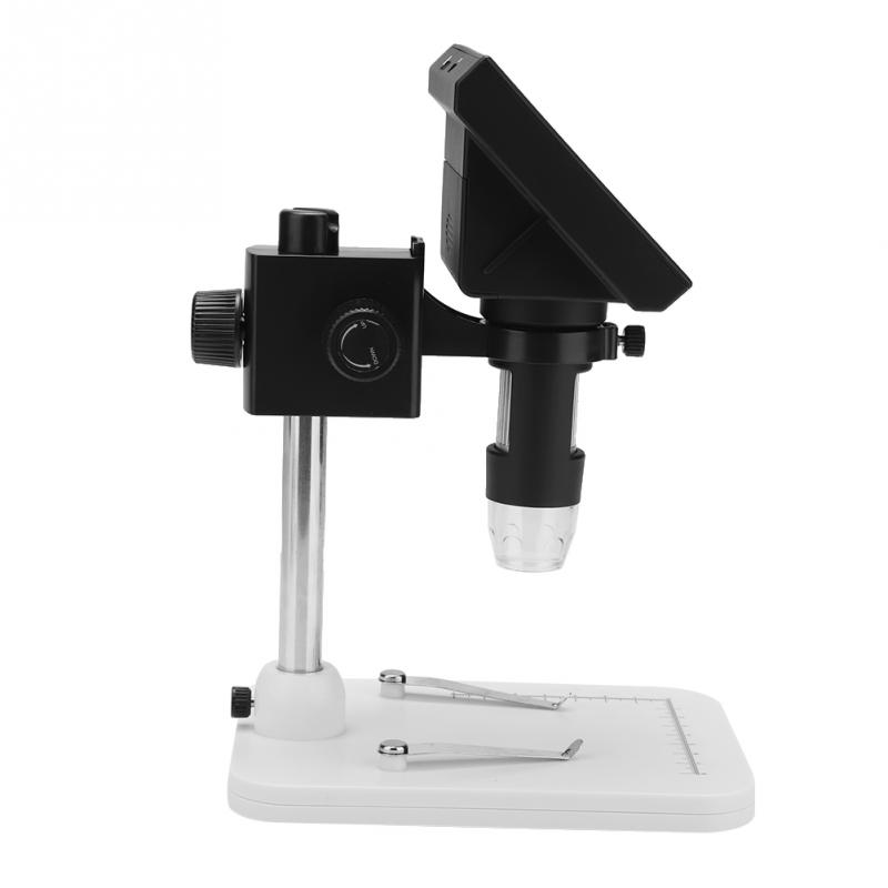 600X Digital Electronic Microscope 5MP 4.3 Display PCB Magnifier with LED Light USB Microscope