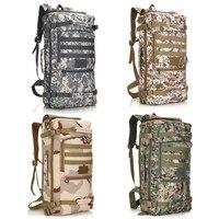 60L Outdoor Bag Military Tactical Backpack Waterproof Army Rucksack Hunting Sports Camping Hiking Bags Travel Shoulder Bag