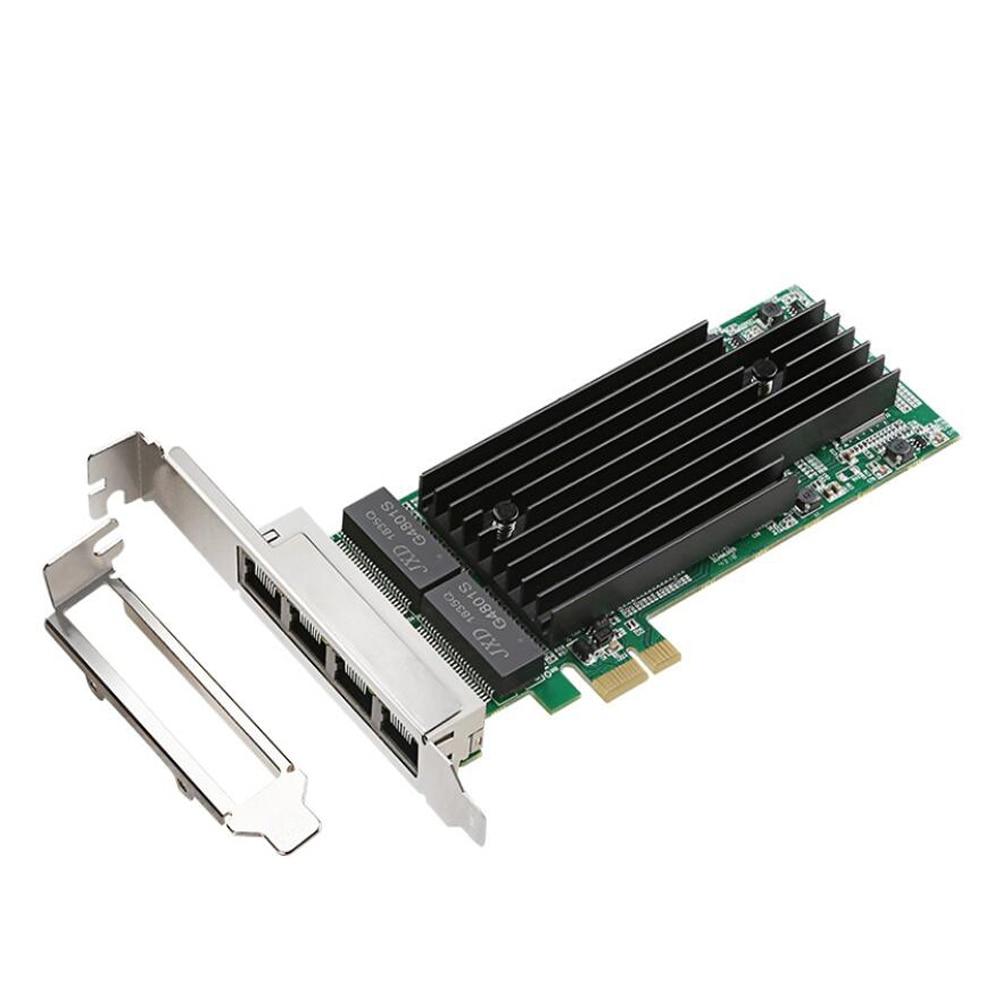 Intel 82575-T4 4 Ports 1000Mbps Gigabit Ethernet serveur adaptateur pci-express X14 RJ45 carte réseau pour ordinateur de bureau