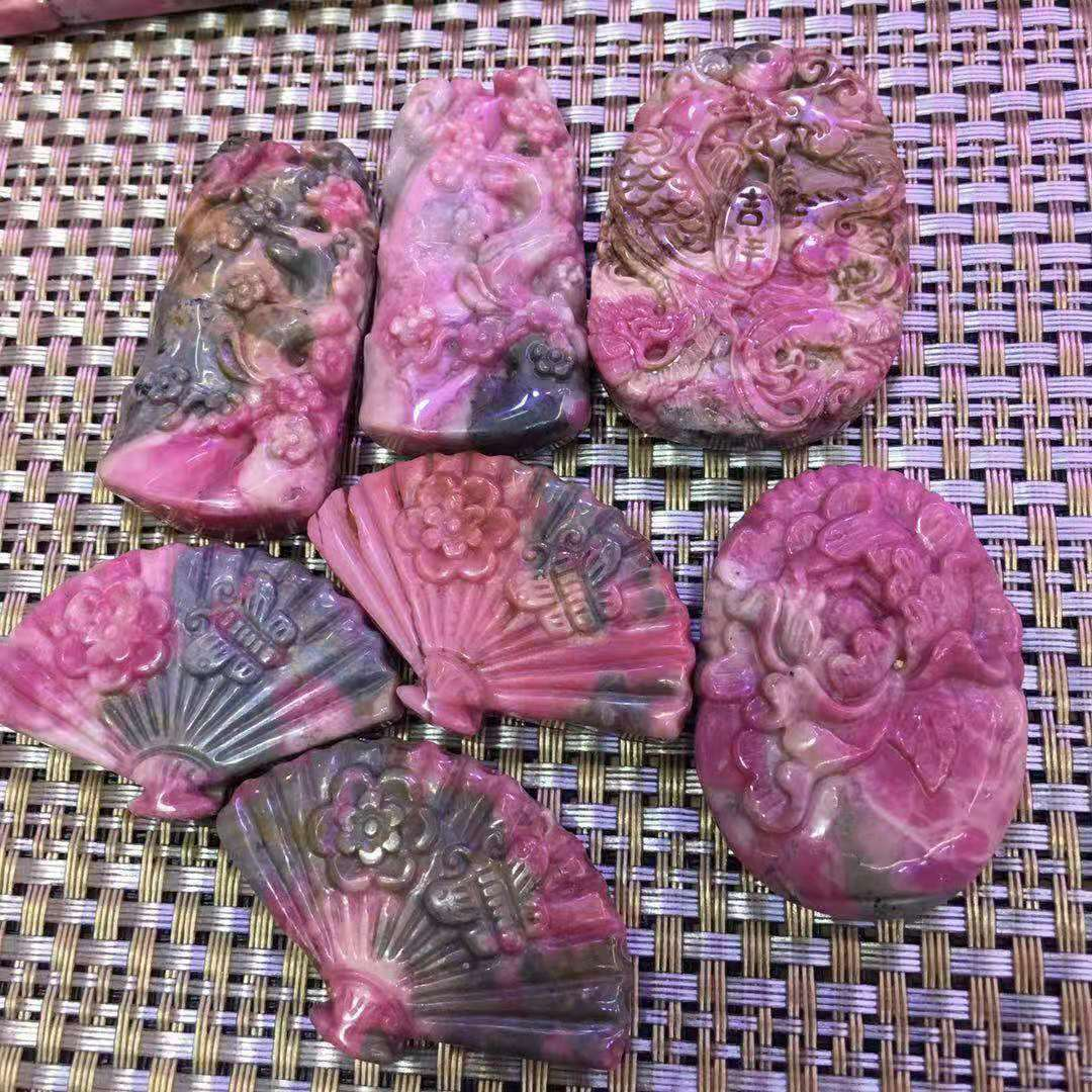 10pcs natural rose stone rose ash carving carving fine wholesale in Stones from Home Garden