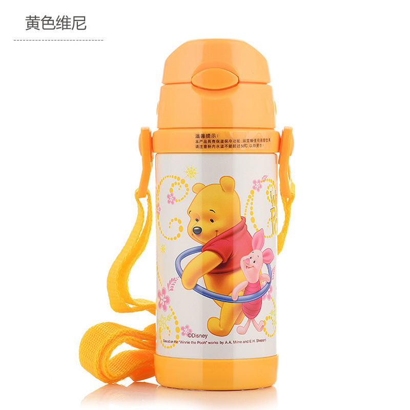 Image 4 - Disney Cute Cartoon 2019 New Fashion Portable Heat Preservation Cup Children Stainless Steel Sucker Water Kettle With Water Cup-in Cups from Mother & Kids