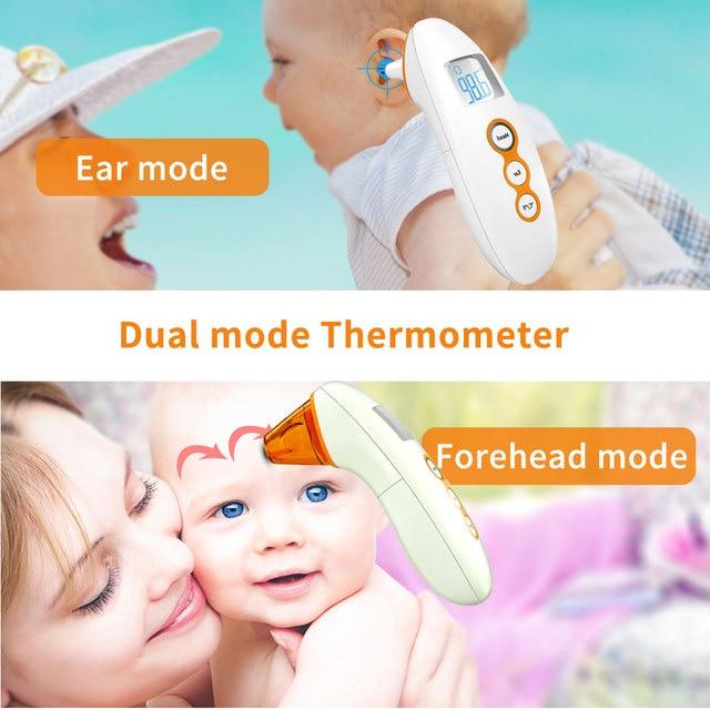 Voorhoofd Oorthermometer Voor Baby Volwassenen Digitale Lcd Ir