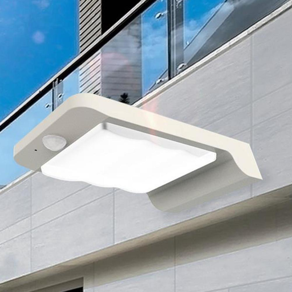 32 Led Solar Power Motion Sensor Garden Security Lamp Outdoor Waterproof Light Jade White