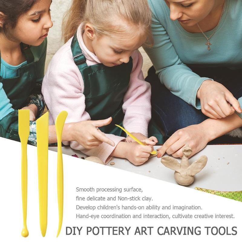 3/10pcs Plastic Clay Sculpting Set Polyform Sculpey Tools Set For Shaping Clay Playdough Tools Toys Polymer Modeling Clay Tools Art Sets