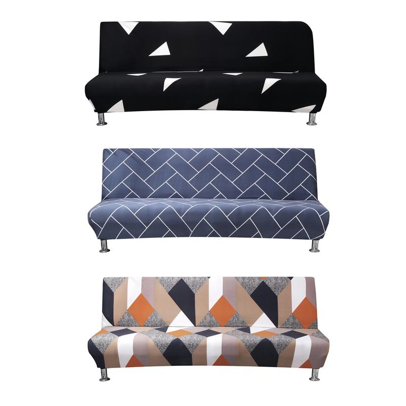 Stretch Armless Sofa Bed Cover Folding Futon Slipcover Protector All-inclusive