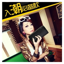 Wallet Double Zipper Ladies Large Capacity Long Patent Leather Change Mobile Phone Clutches